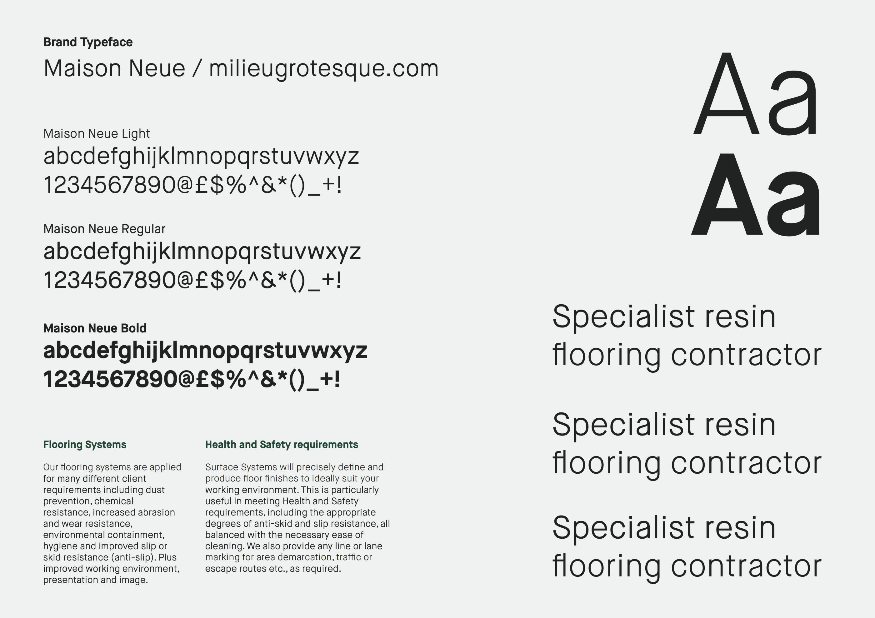 The development of Surface Systems typography