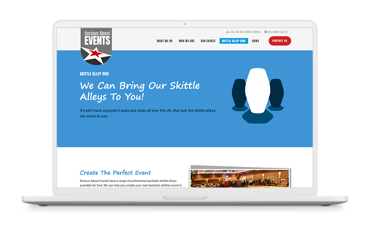 serious about events website design